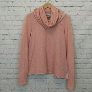 Free People FP Beach Cowl Neck Top Orange Small